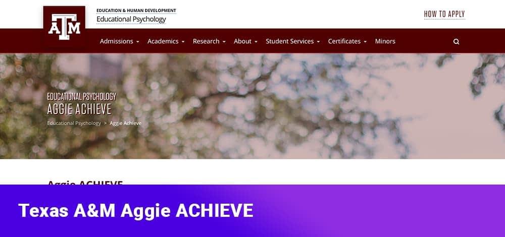 Texas A&M Aggie ACHIEVE