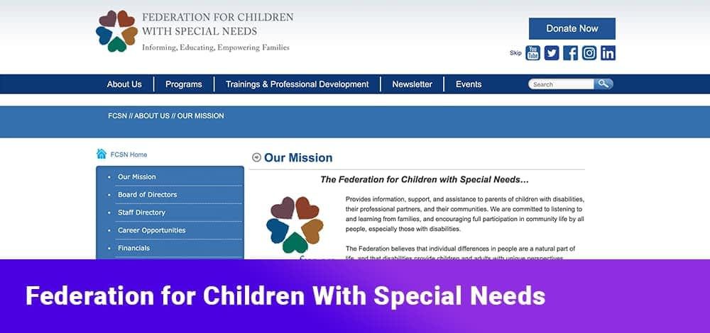 Federation for Children With Special Needs
